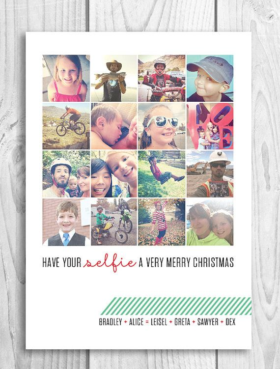 Selfie Instagram Holiday Christmas Card Etsy Family Christmas Card Photos Family Christmas Cards Christmas Cards