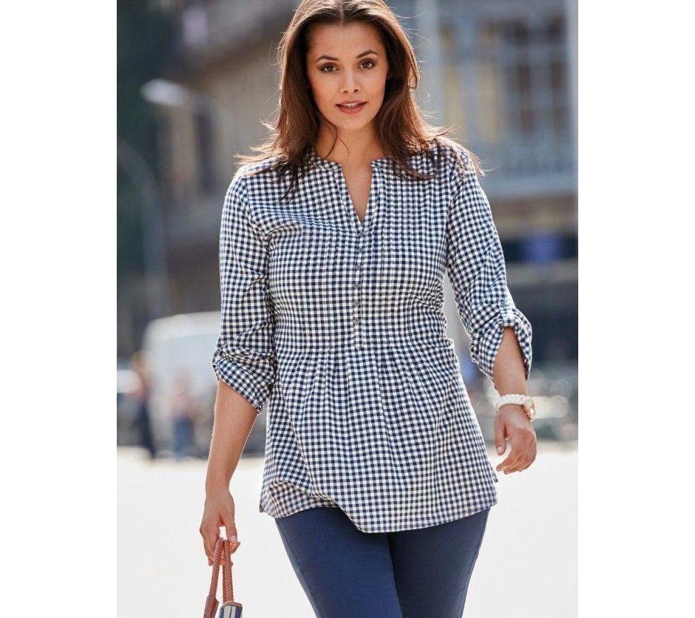 Kockovaná blúzka so zaviazaním | modino.sk  #ModinoSK #modino_sk #modino_style #style #fashion #bellisima #blouse