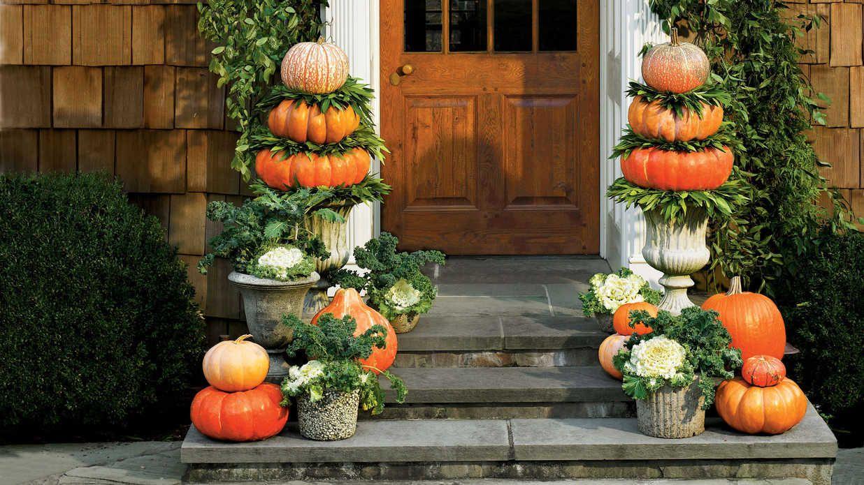Fabulous Fall Decorating Ideas Halloween door decorations, Pumpkin - halloween front door decor