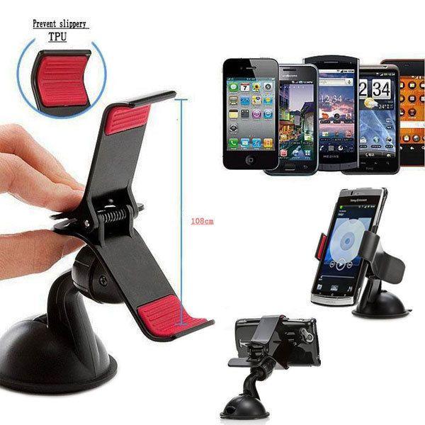 Soporte Universal para Telefono Movil GPS salpicadero del Parabrisas de Coche con Ventosa y Montaje Car accessories for iphones