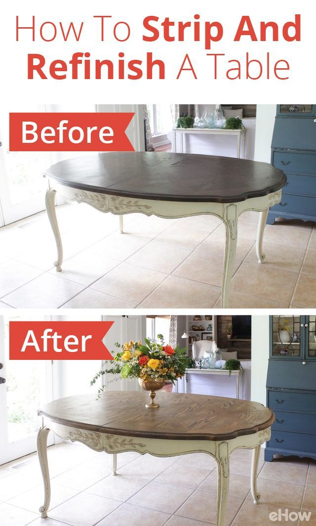 How To Strip And Refinish A Dining Table Refinish Dining Tables