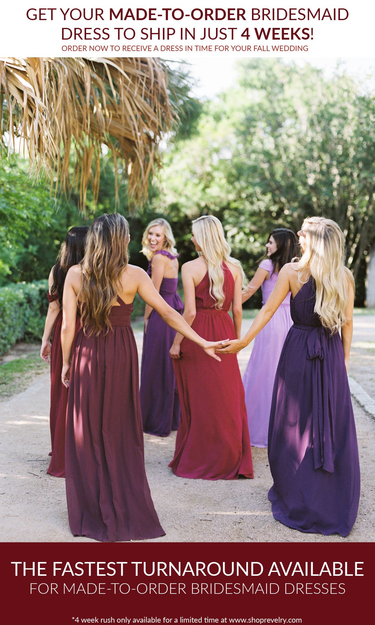 Its not too late get your made to order bridesmaid dress to ship get your made to order bridesmaid dress to ship in just 4 weeks order now to receive a dress in time for your fall wedding ombrellifo Images