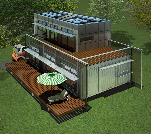 Container van house floor plan house design plans for U shaped container home