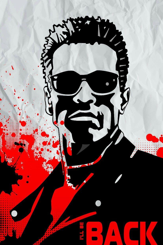 Poster Terminator Minimalist Arnold Schwarzenegger