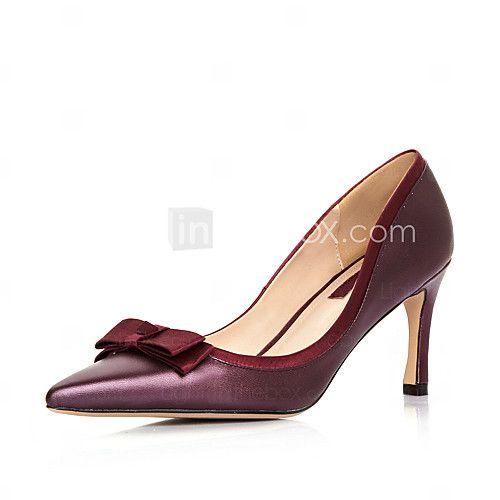 Zapatos morados Tacón de aguja casual para mujer n4dfB
