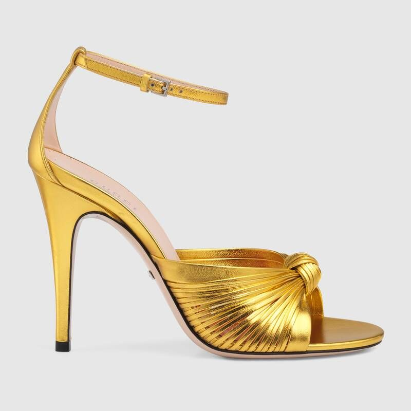 Gucci Metallic leather sandal #metallicleather