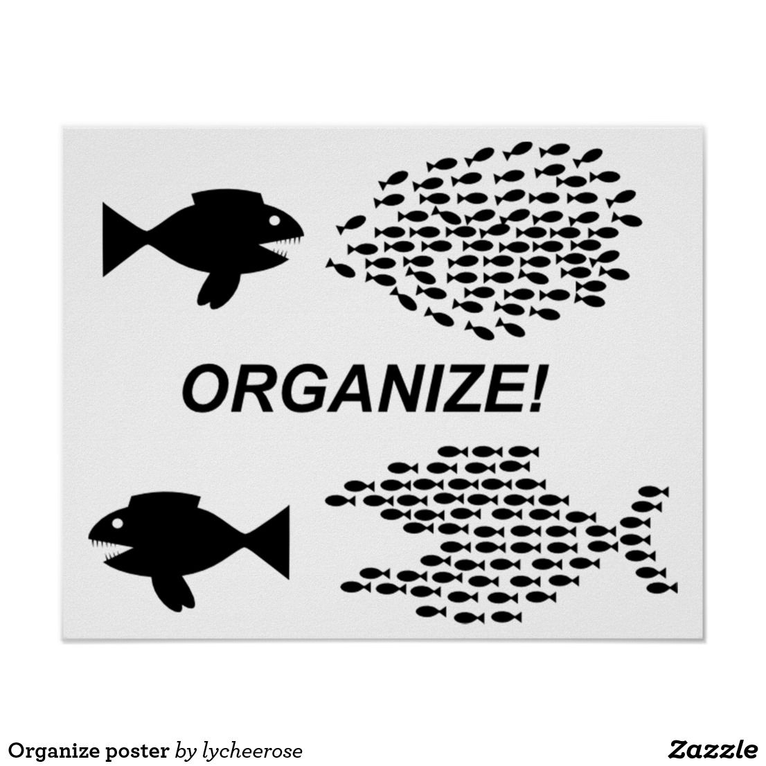 Organize poster Organize posters