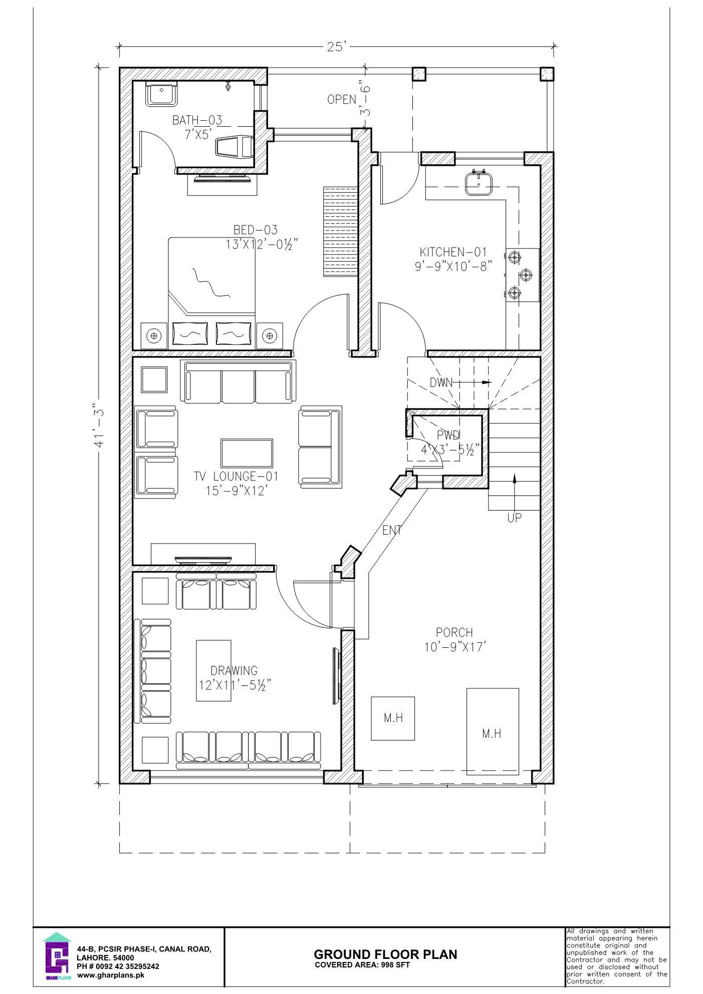 6 Bedroom 5 Marla Ground Floor Plan Two Storey House Plans House Plans Mansion Floor Plan Layout
