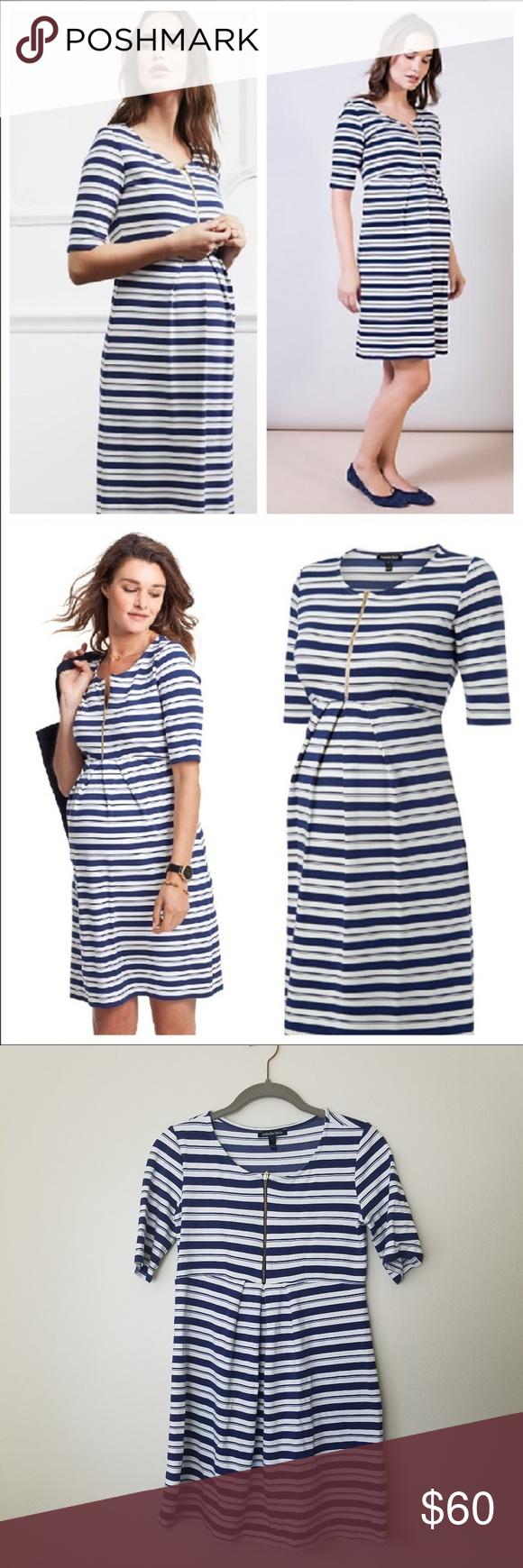 Isabella oliver beaumont stripe maternity dress my posh closet