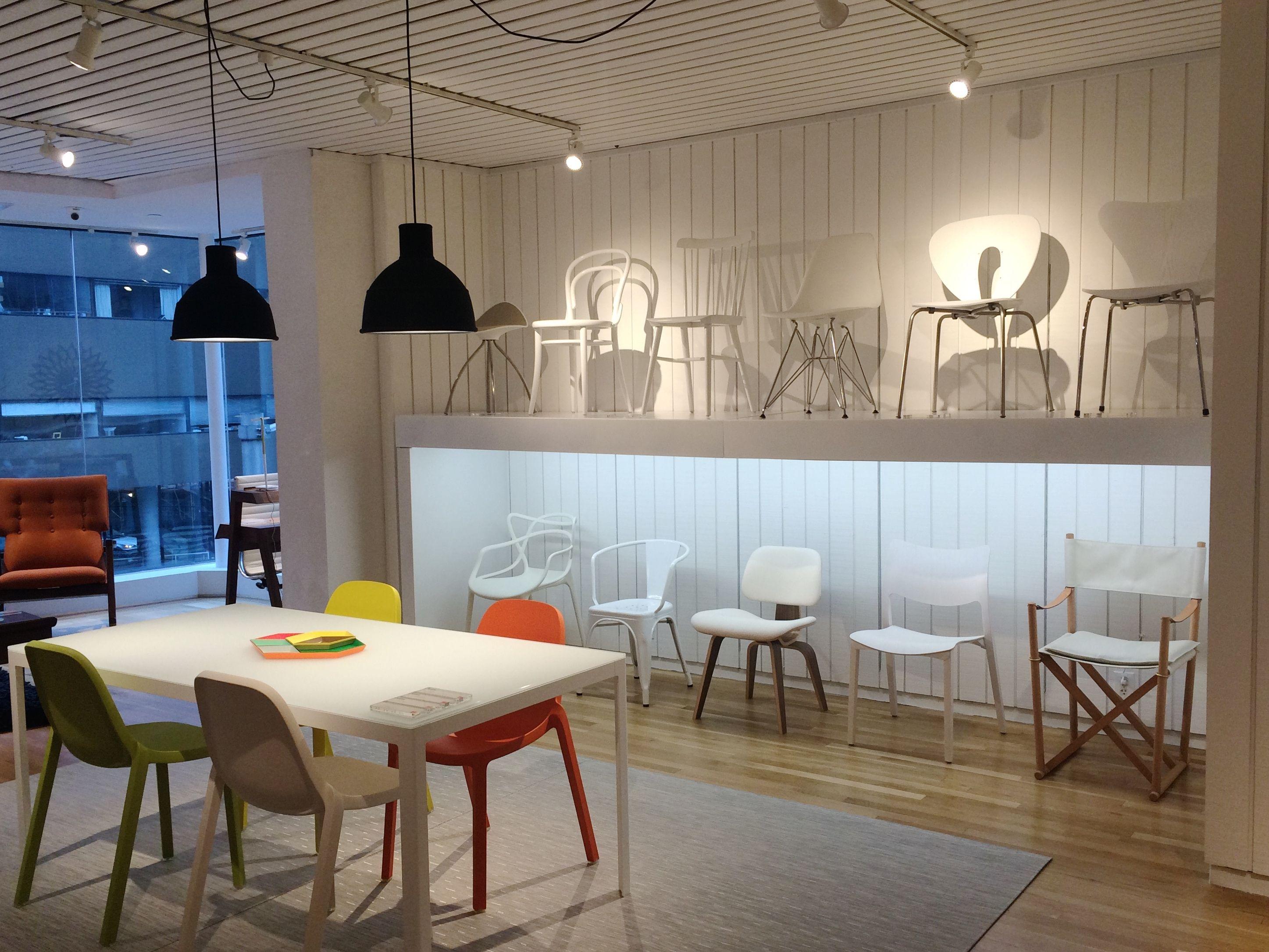 creative ways to display chairs