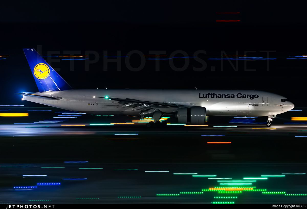 High quality photo of D-ALFE (CN: 41678) Lufthansa Cargo Boeing 777-FBT by GFB