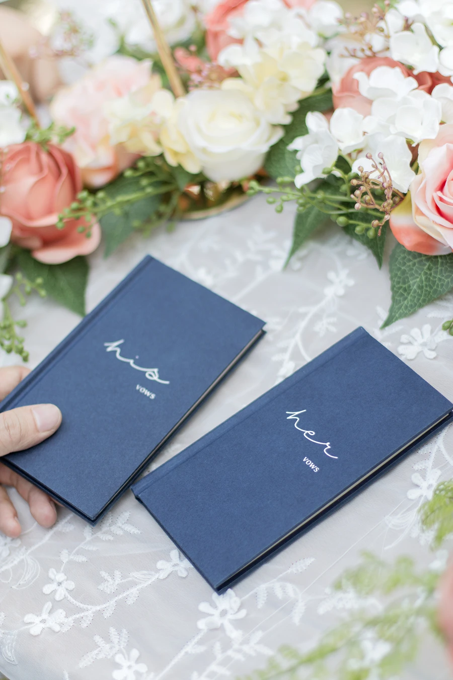Hardcover Wedding Vow Books His And Her In 2020 Wedding Vow Books Unique Wedding Vows Vow Book