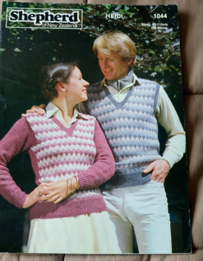 Men's & Women's Fairisle Vest & Sweater vintage knitting pattern 8 ...
