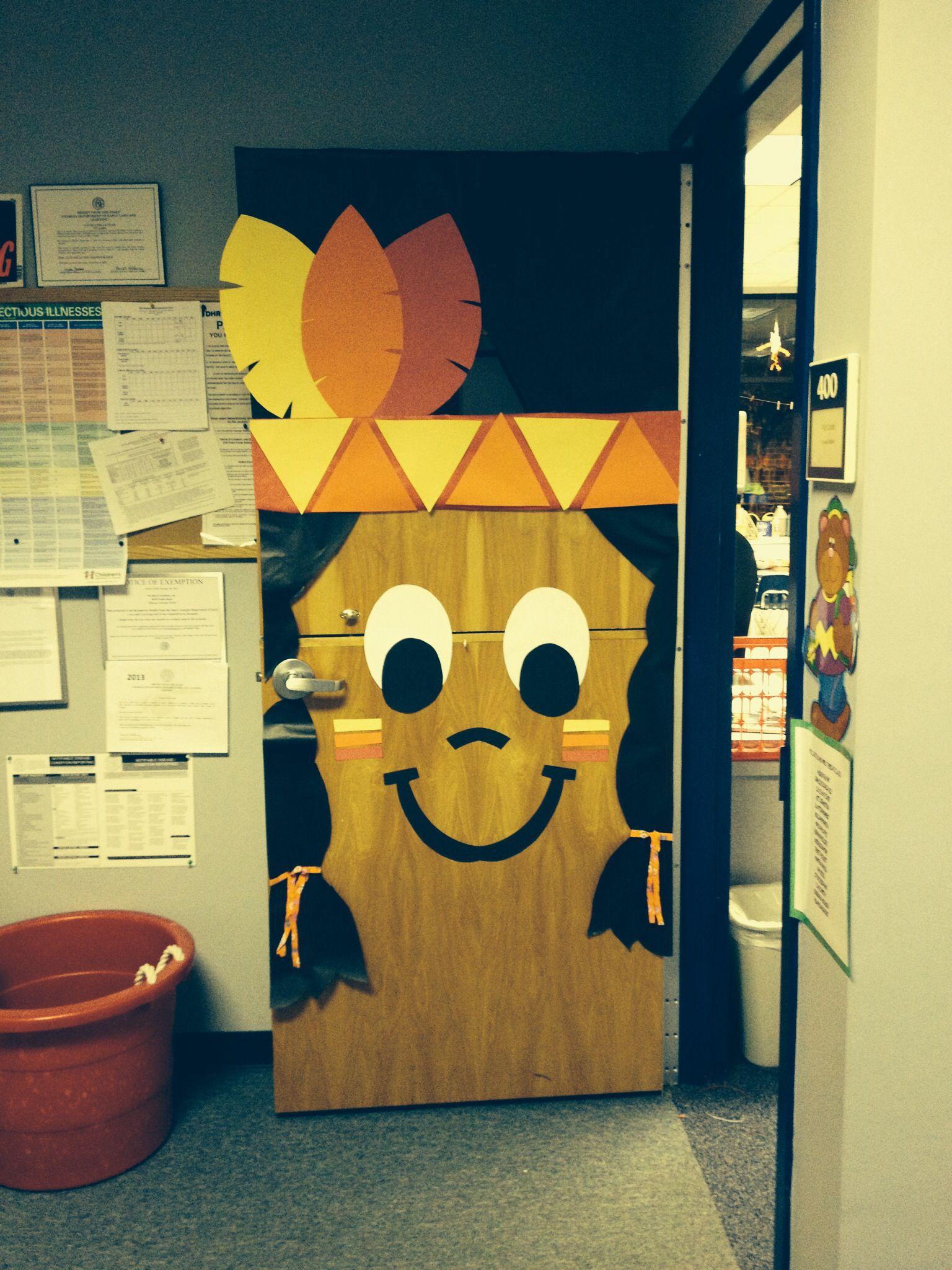 Indian On Door At School Door Pinterest Doors