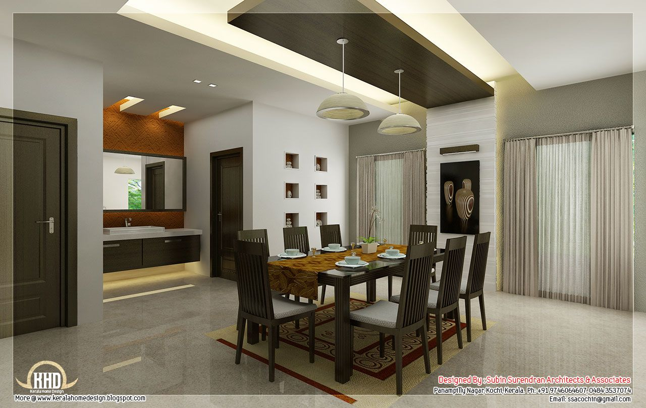 Kitchen dining interior design design ideas 2017 2018 pinterest kerala kitchen dining and - Interior design for small space house plan ...