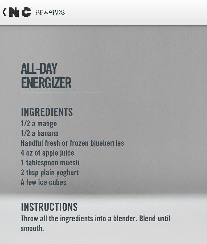 Nike training club reward- all day energizer smoothie recipe