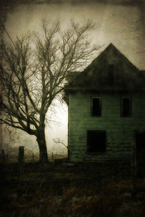 """""""Haunted"""" is one of those old deserted houses that pepper the countryside in a form of rural decay. It seems I take a photo of them and soon after they are torn down, fall down, or catch fire. It makes me sad but I like to think that they were waiting for me to save them forever in a photo before they let go of this life. $90 @judeMcConkeyPhotos on Etsy."""