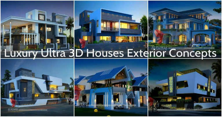 D Designs Of House Plans And House Exterior Look Architecture - Ardmore hall luxury residence built by michael knight
