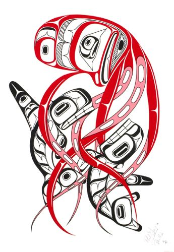 devilfish phil grey tsimshian cree limited edition serigraph measuring x 14 first. Black Bedroom Furniture Sets. Home Design Ideas