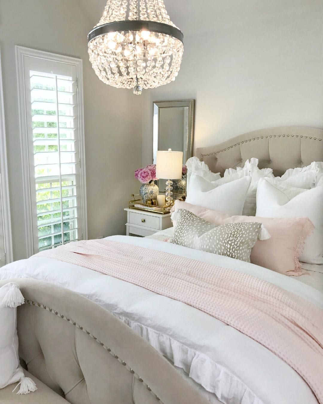 Bedroom  ideas bedroom  inspiration glam  bedroom  white