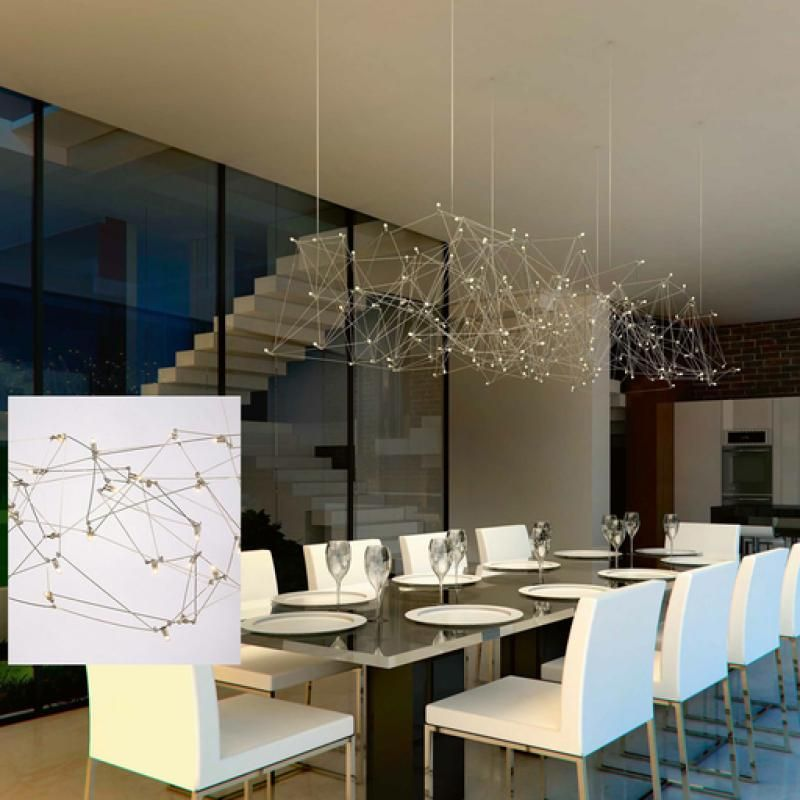 Buy online universe disc by quasar led nickel pendant lamp universe collection