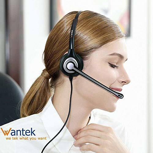 3.5mm Cell Phone Headphone for iPhone Samsung Skype Webinar Business Office Call Center Ultra Comfort Computer Headset with Microphone for Mobile Phone Laptop PC Tablet Clearer Voice