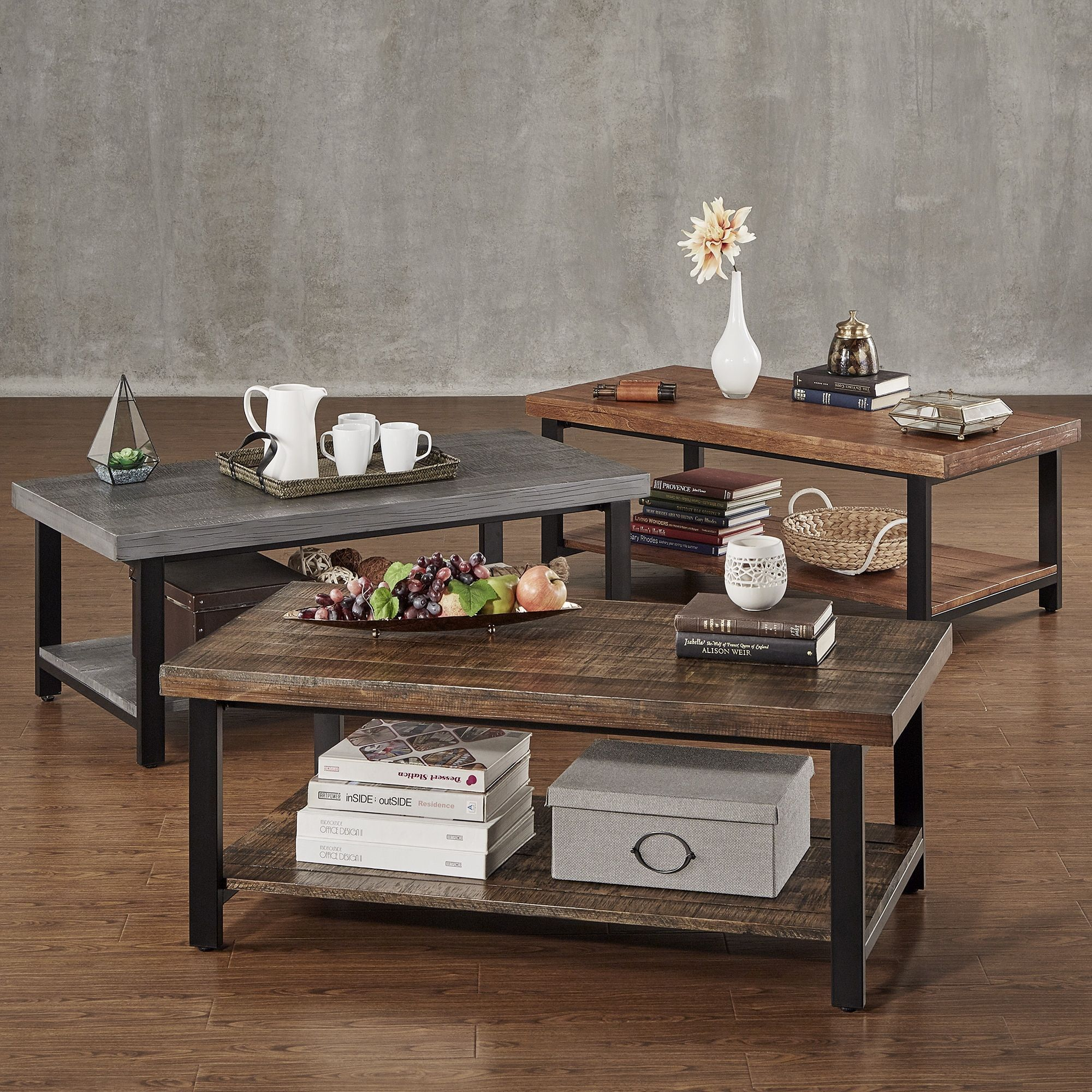 TRIBECCA HOME Cyra Industrial Reclaimed Rectangular Coffee Table | Overstock .com Shopping   The Best