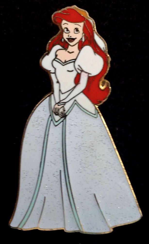 Disney The Little Mermaid Ariel Sparkle Princesses Wedding Dress pin ...