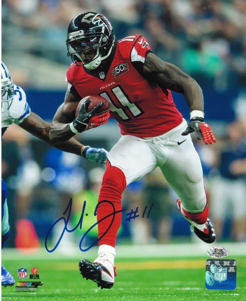 Julio Jones Signed Atlanta Falcons 8x10 Photo Coa Hologram From 19 95 Julio Jones Atlanta Falcons Football