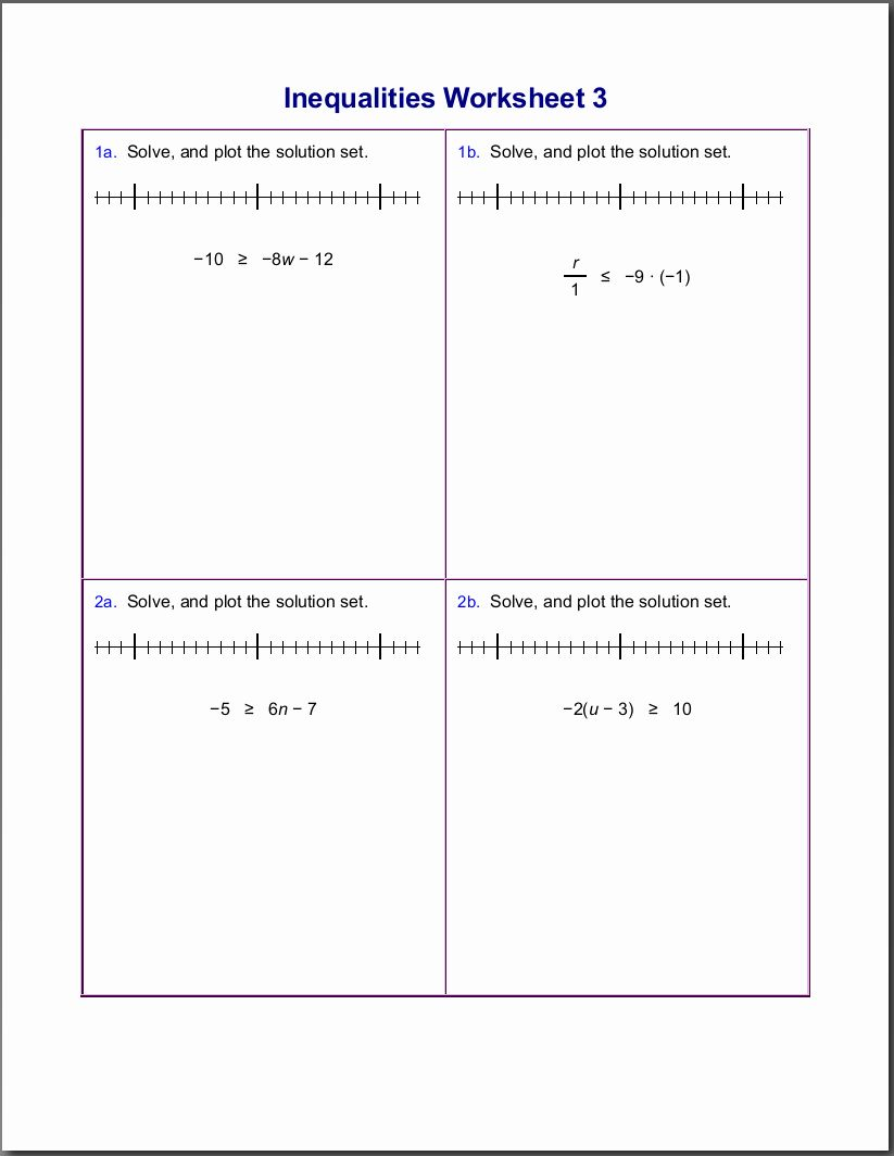 small resolution of Solving Linear Inequalities Worksheet Luxury Worksheets for Inequalities    Writing inequalities