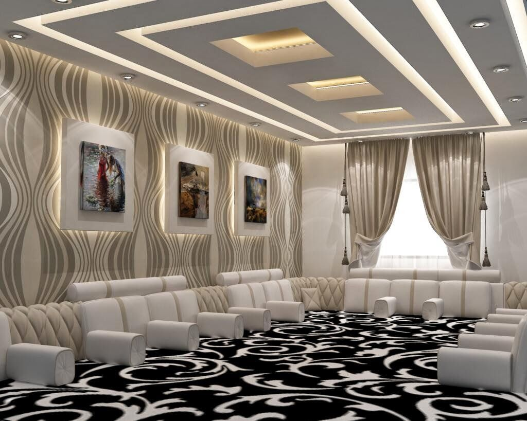 Arabic House style | Ceiling design modern, Bedroom false ...