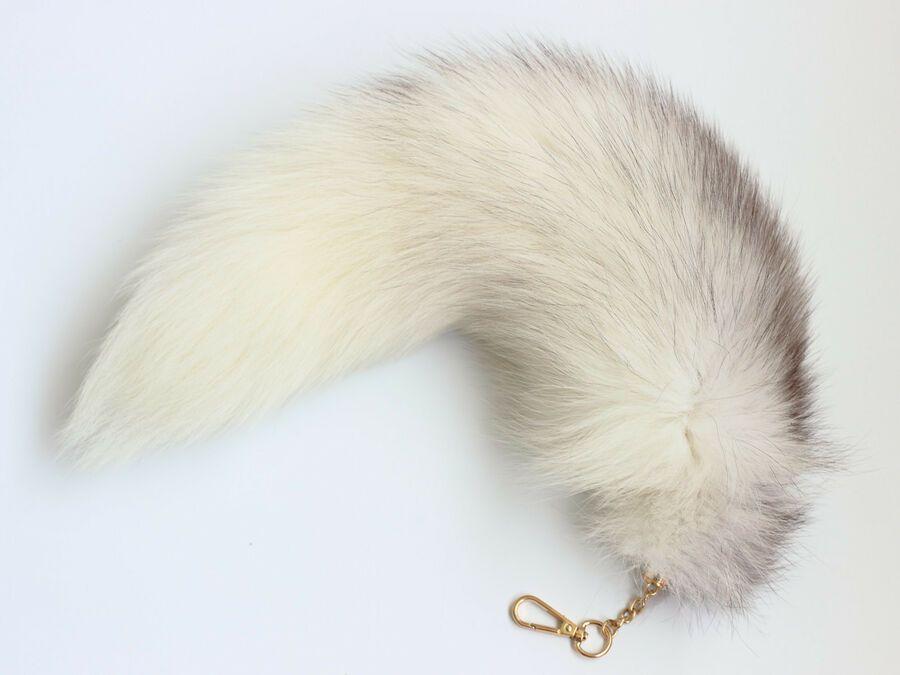 Supper Huge Fluffy Fur Cosplay Toy Handbag Accessories Key Chain Ring Hook Tassels Fashion Real Fun Tail