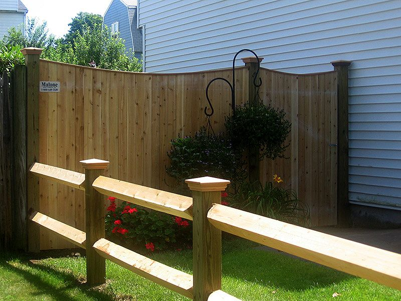 Split Rail Fence In Replace Of Our Wall Wood Fence