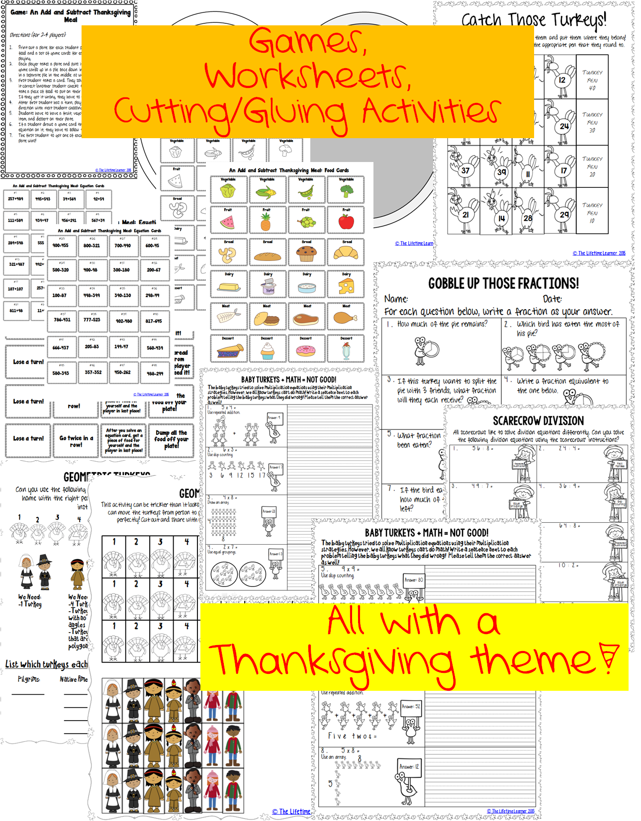 3rd Grade Thanksgiving Math