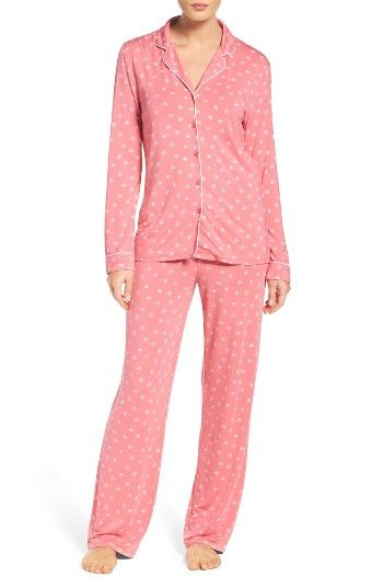 4b2fa61fa4 Free shipping and returns on Nordstrom Lingerie Moonlight Pajamas at  Nordstrom.com. Contrast piping outlines classic menswear-inspired PJs that  pair a ...