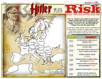 Aggression before world war ii dictators play risk activity looking for a creative and fun way to show your students the aggression the dictators of germany italy and japan took before world war 2 look no further gumiabroncs Images