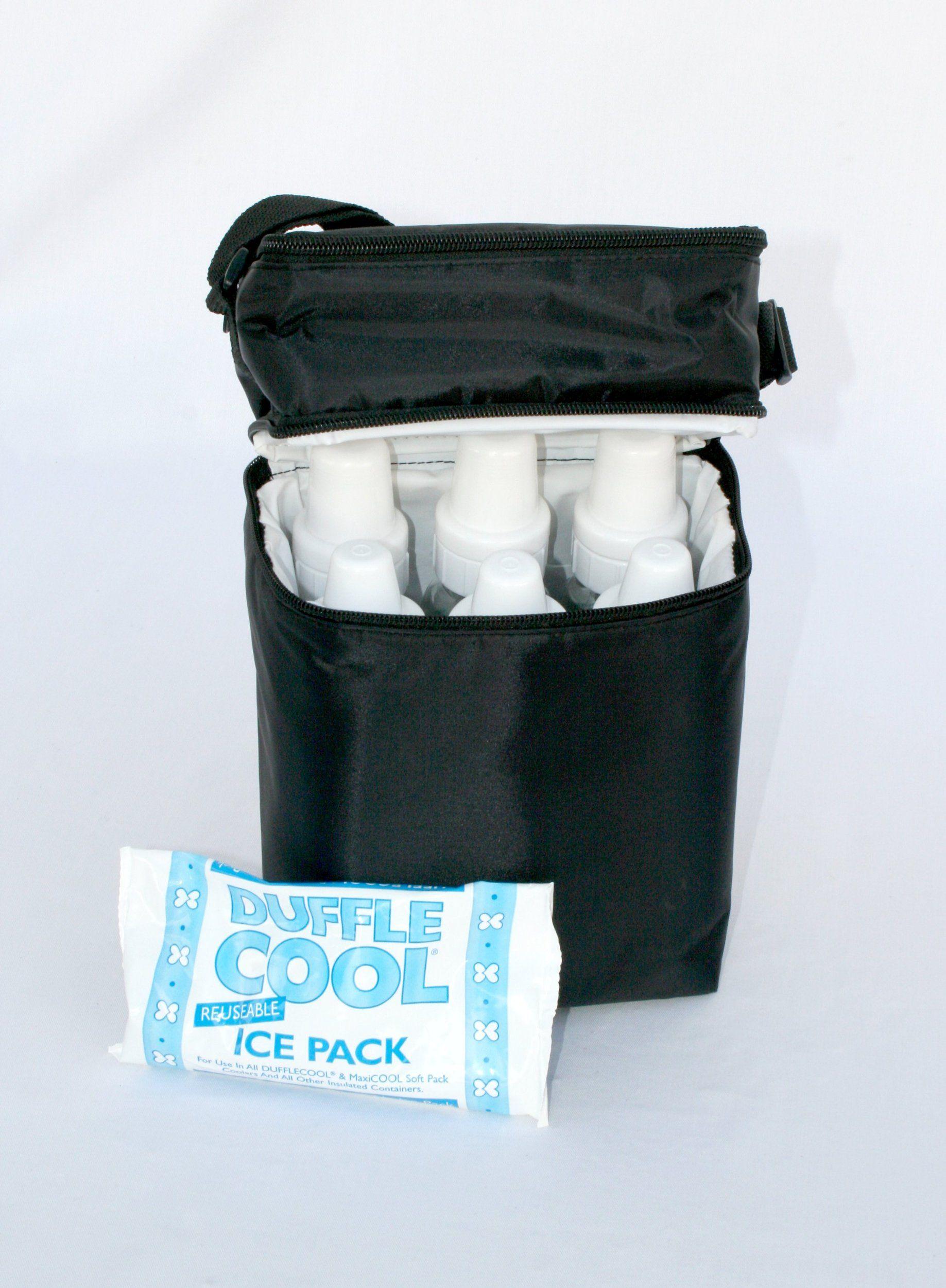 AmazonSmile : JL Childress 6 Bottle Cooler, Black : Baby Bottle Tote Bags : Baby