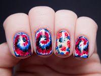 Chalkboard Nails: Sally Hansen x Rodarte Tie Dye and Floral Mix (+ Tutorial)