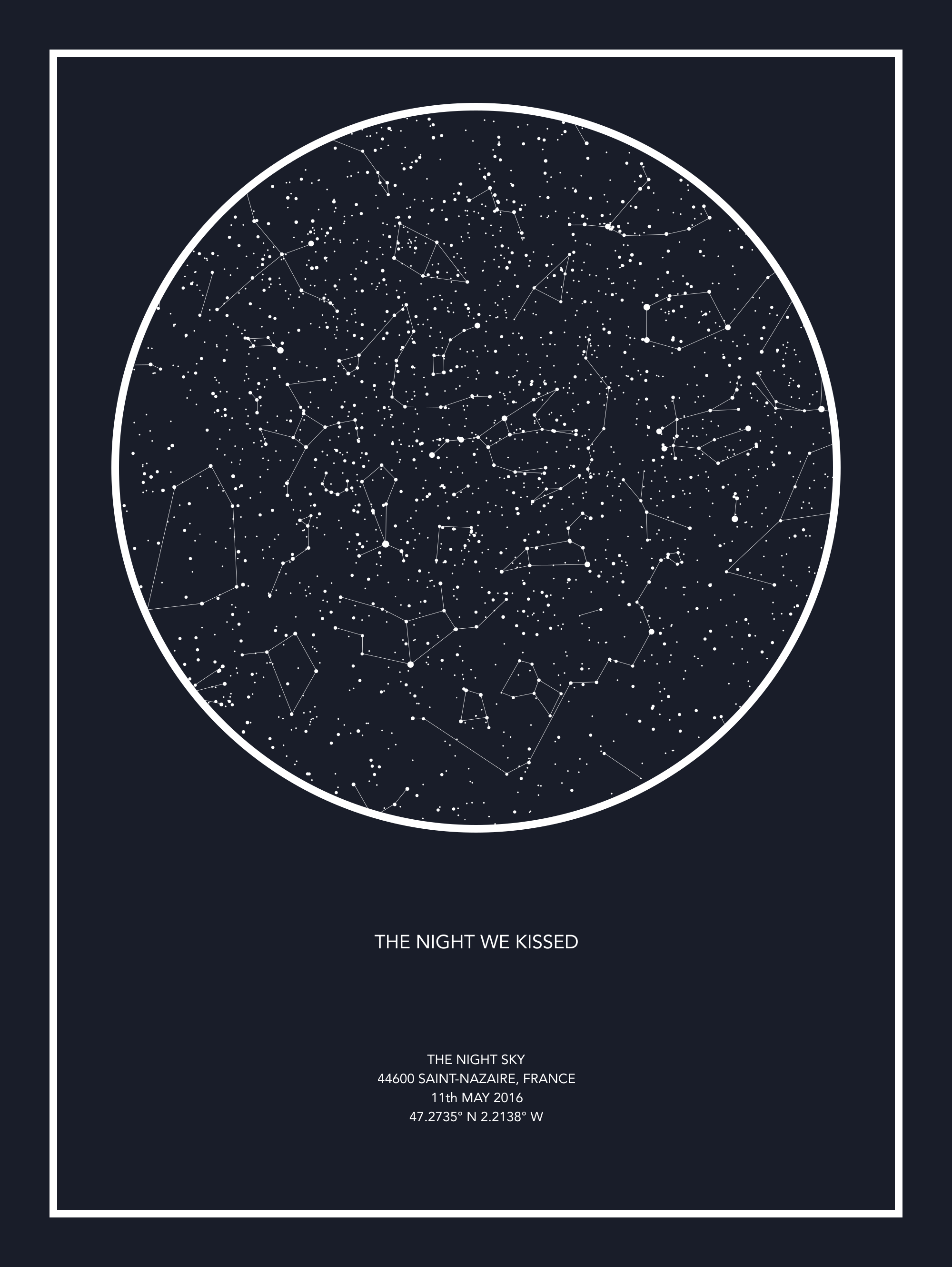 Night Sky Star Map Individual Star Map #nightsky (With images) | Map of the night sky