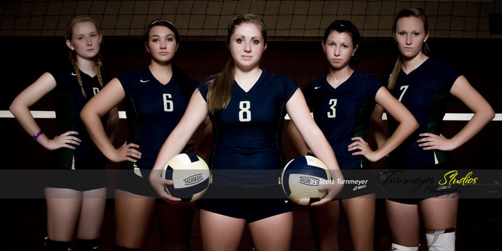 Shs Volleyball Seniors The Fab 5 Sport Portraits Studio Photography Extreme Sports