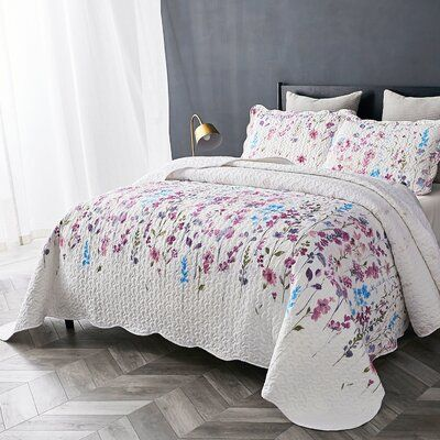 Rosdorf Park Jurnee Lilac Reversible Quilt Set Quilt Sets Sham
