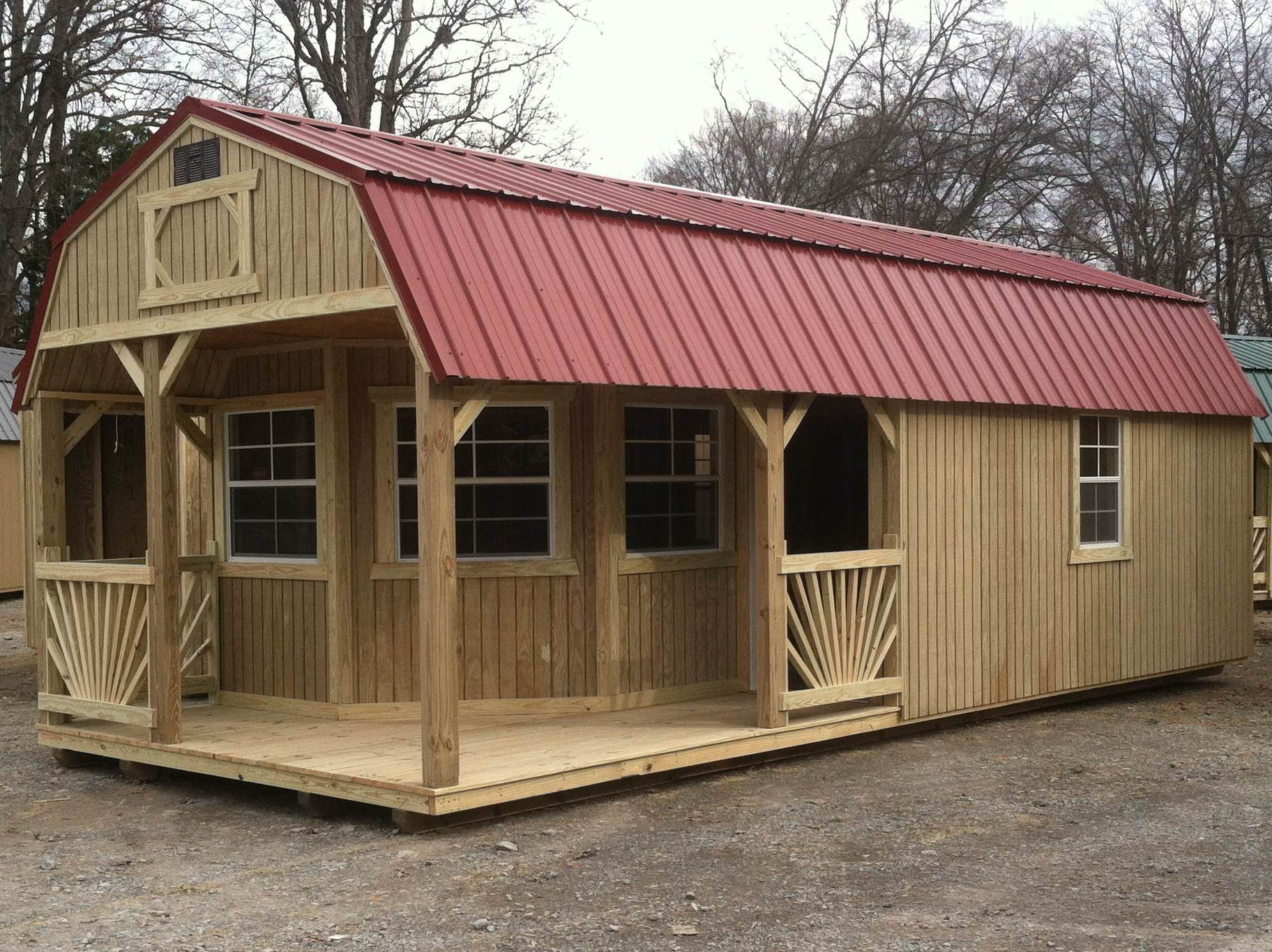 Hickory sheds west cabins cabins n small homes for Small portable shed