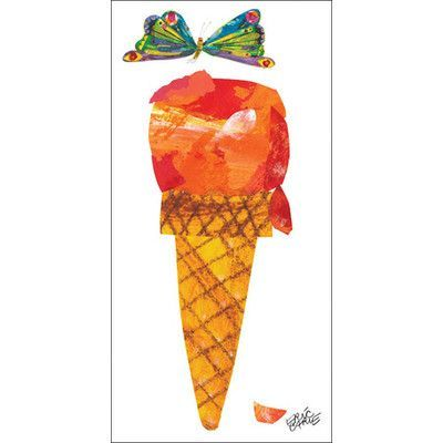 Oopsy Daisy Eric Carle's Ice Cream Cone Canvas Art