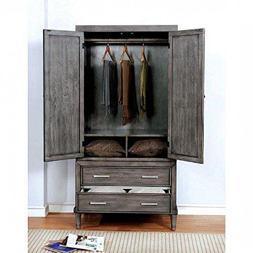 Fa Furnishing Beckenham Nautical Wardrobe Tv Armoire 36 Inch