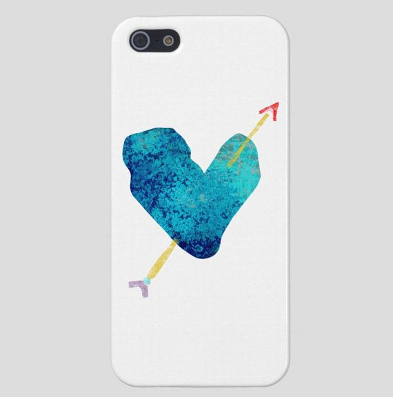 Blue Heart Valentine Cover  iPhone 5  Glossy with lovely Finish
