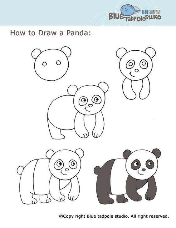 Hayvan Resimleri Nasıl çizilir Karikatür çiz Drawings Panda