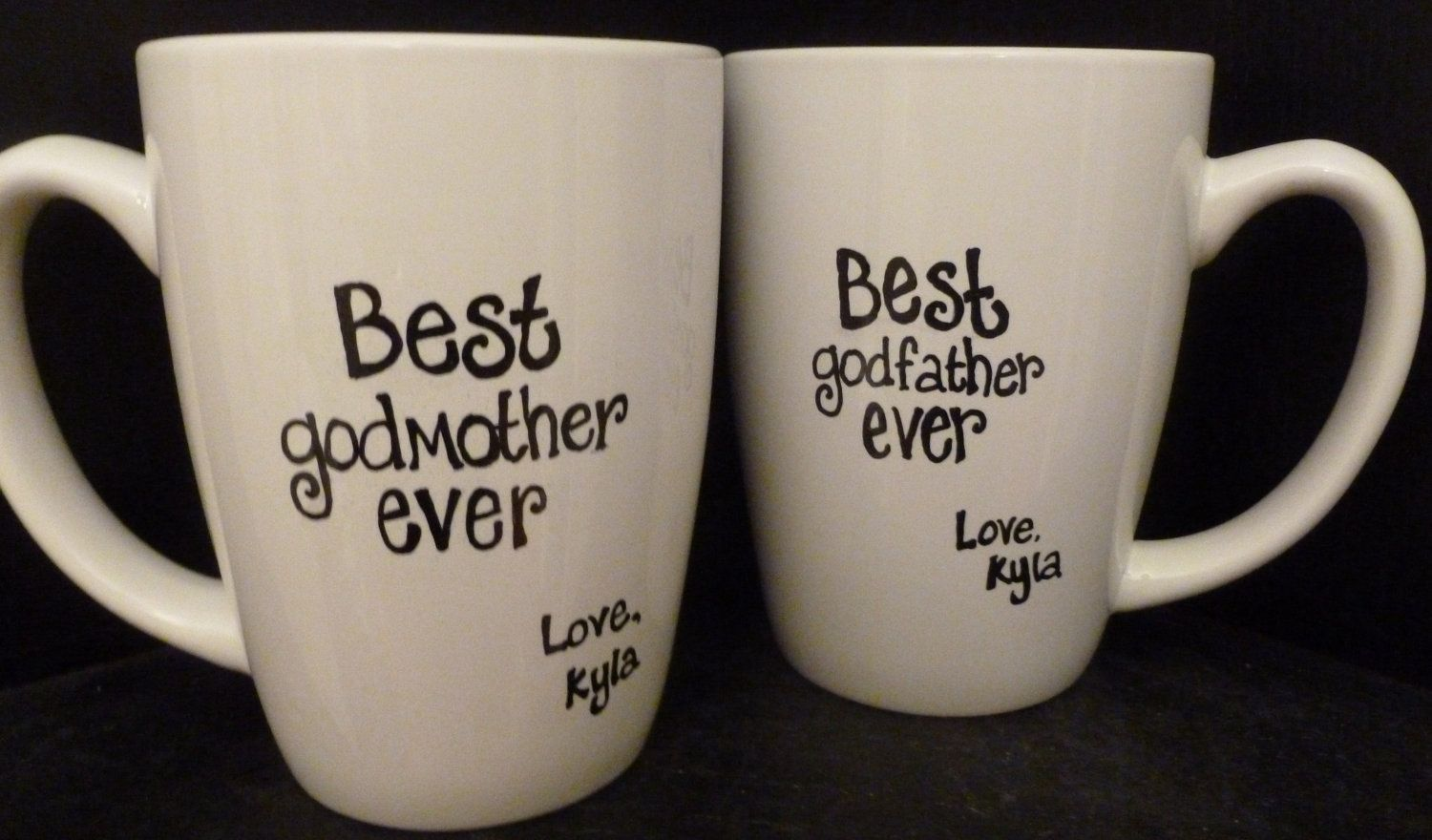 GODMOTHER or GODFATHER Mugs, Godparent BAPTISM or Christmas Gift ...