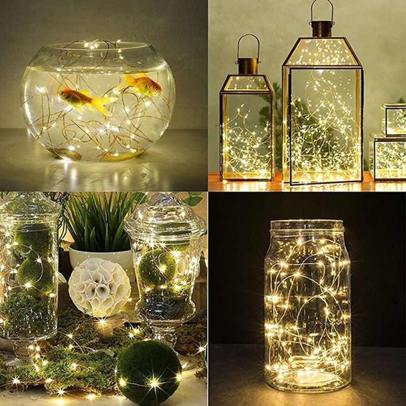 20/30/50/100 LED String Copper Wire Fairy Lights Battery Powered WaterproofDS