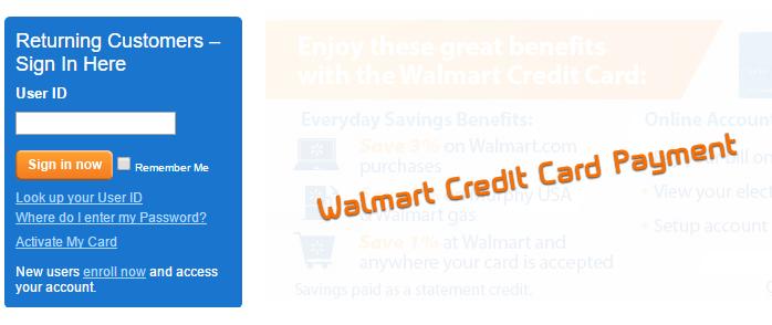 Walmart Credit Card Payment How To Make A Walmart Credit Card