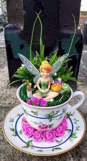 40 Simple DIY Teacups Mini Garden Ideas That Lend Your Home Luck   fairy